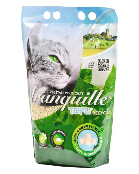 Litière végétale Tranquille Tofu Recyclé
